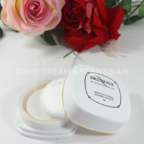 premium loose powder acne skinnova